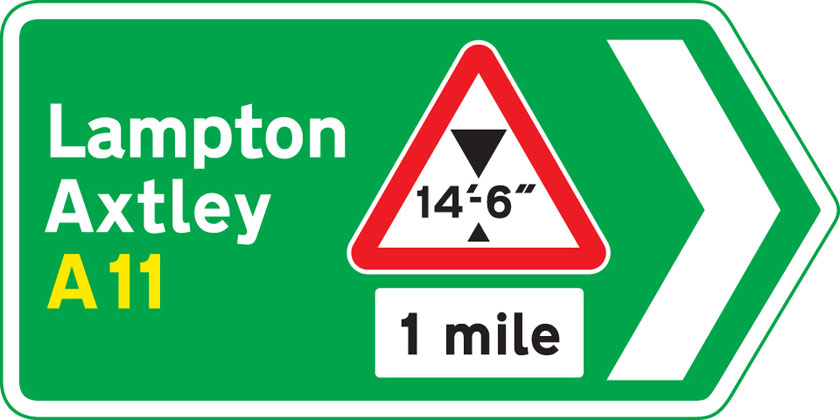 direction-sign green at junction