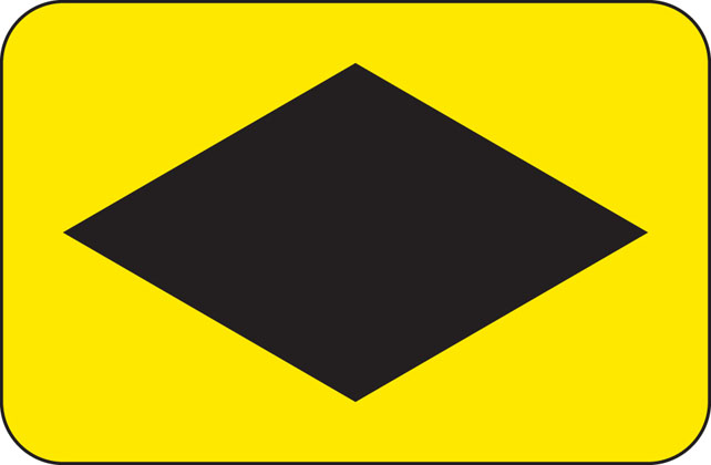 direction sign other emergency diversion diamond