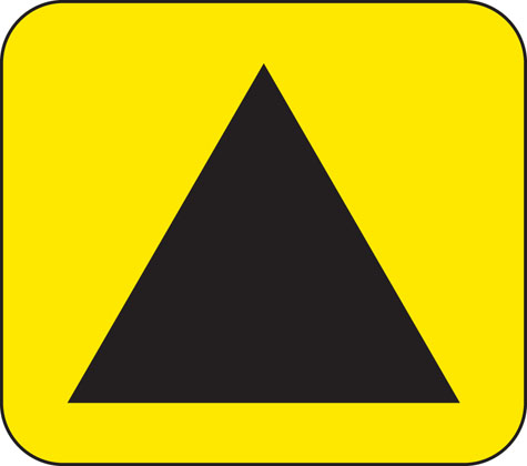 direction sign other emergency diversion triangle