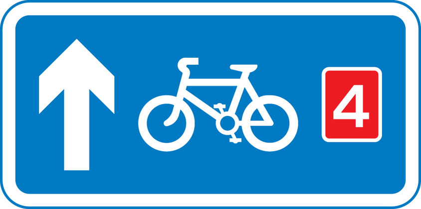 direction sign other route pedal cycles