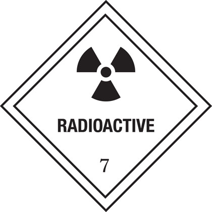 hazard warning radioactive plate
