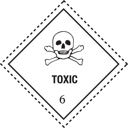 hazard warning toxic label
