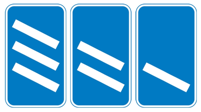 information sign motorway exit countdown markers
