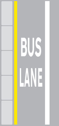 other road markings bus lane road