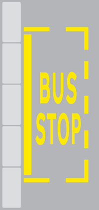 other road markings bus stop road