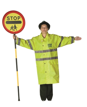 school crossing patrol all vehicles stop