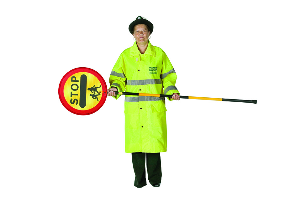 school crossing patrol barrier to stop