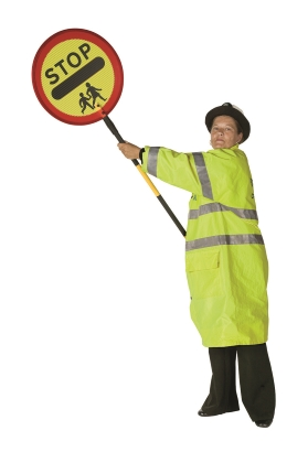 school crossing patrol vehicle prepare stop