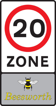 sign giving order entry 20 zone