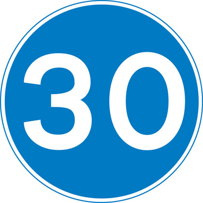 sign-giving-order-minimum-speed