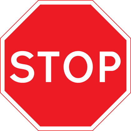 sign giving order stop give way