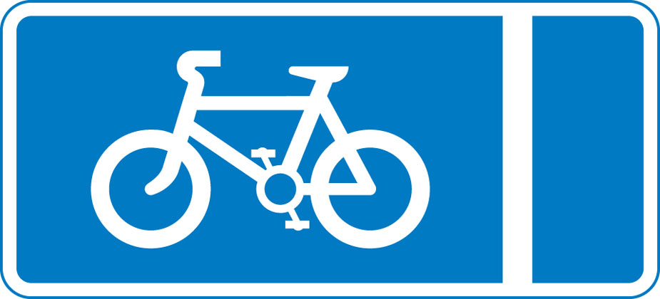 sign giving order with flow pedal cycle lane