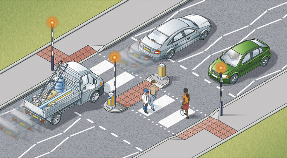 Rule 20: Zebra crossings with a central island are two separate crossings
