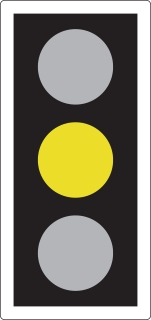 traffic light amber