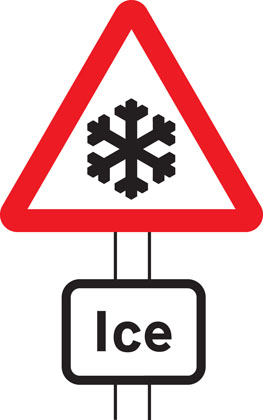 warning sign risk of ice